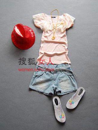 T恤+短仔裤